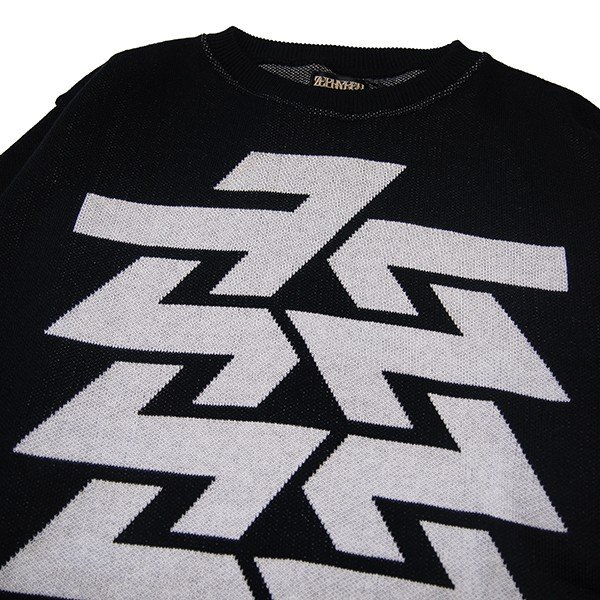 ZEPHYREN ゼファレン BIG JAGUARD KNIT -Cut the world-|steelo|03