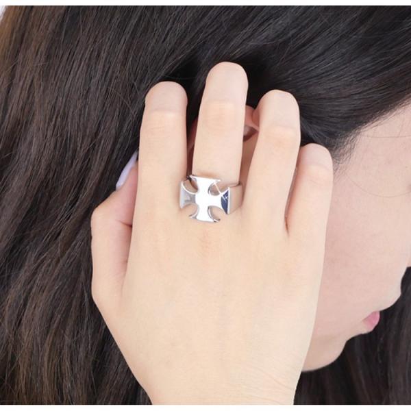 リング 指輪 ステンレス 金属アレルギー対応 アイアンクロスリング 十字架 レディース メンズ メール便