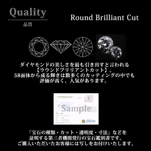 ダイヤモンド ネックレス 一粒 0.1ct クラウンダイヤモンドネックレス 金属アレルギー サージカルステンレス|stency-nana|10