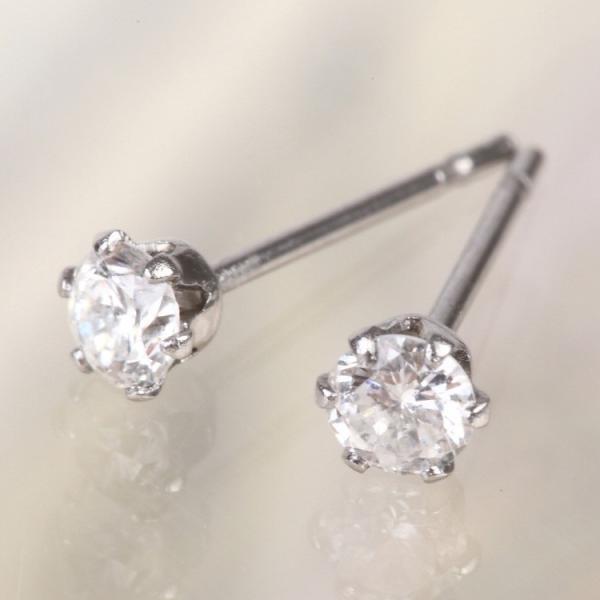 金属アレルギー対応 ステンレスピアス 天然ダイヤモンド 0.1ctダイヤモンドピアス スタッドピアス 誕生日 記念日 ギフト プレゼント 彼女 女性 妻  両耳用|stency-nana|02