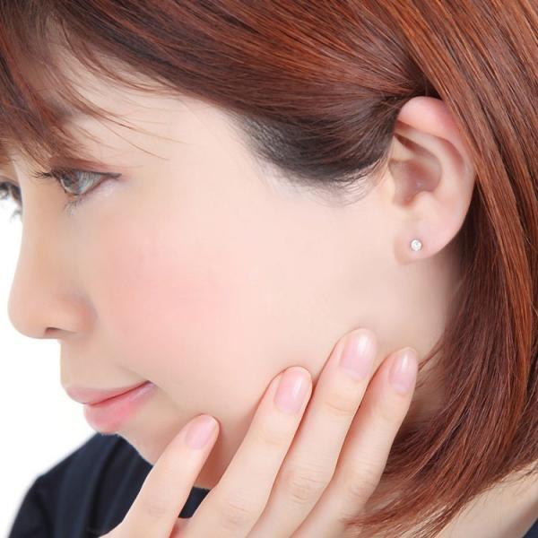 金属アレルギー対応 ステンレスピアス 天然ダイヤモンド 0.1ctダイヤモンドピアス スタッドピアス 誕生日 記念日 ギフト プレゼント 彼女 女性 妻  両耳用|stency-nana|08
