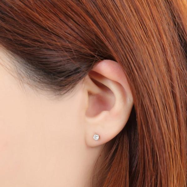 金属アレルギー対応 ステンレスピアス 天然ダイヤモンド 0.1ctダイヤモンドピアス スタッドピアス 誕生日 記念日 ギフト プレゼント 彼女 女性 妻  両耳用|stency-nana|09