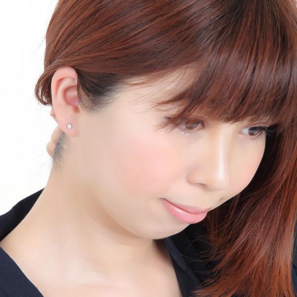 金属アレルギー対応 ステンレスピアス 天然ダイヤモンド 0.1ctダイヤモンドピアス スタッドピアス 誕生日 記念日 ギフト プレゼント 彼女 女性 妻  両耳用|stency-nana|10