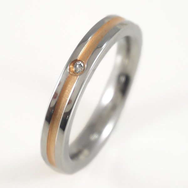 リング 指輪 ステンレス 金属アレルギー対応 ペア 2本セット vie グルーブデザインダイヤモンドリング レディース メンズ|stency-nana|03