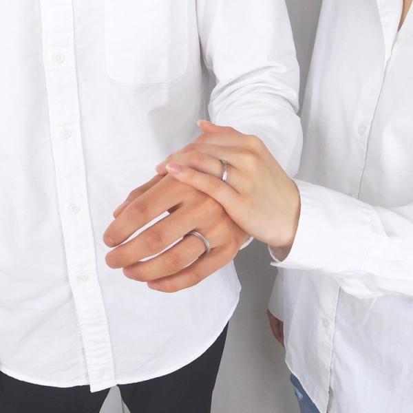 リング 指輪 ステンレス 金属アレルギー対応 ペア 2本セット vie グルーブデザインダイヤモンドリング レディース メンズ|stency-nana|06