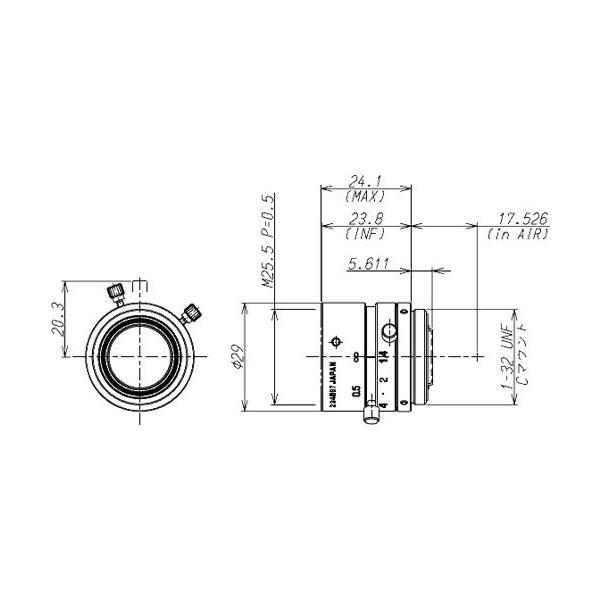 TAMRON (タムロン) CCTV交換レンズ Cマウント・レンズ M118FM16