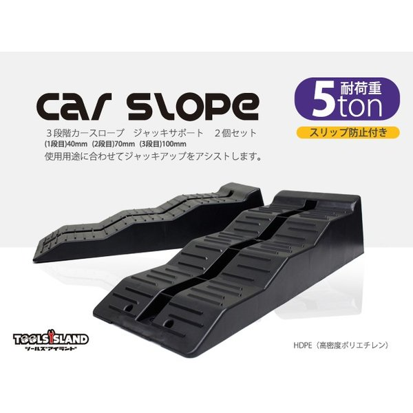 送料無料 3段階カースロープ ジャッキサポート 2個セット