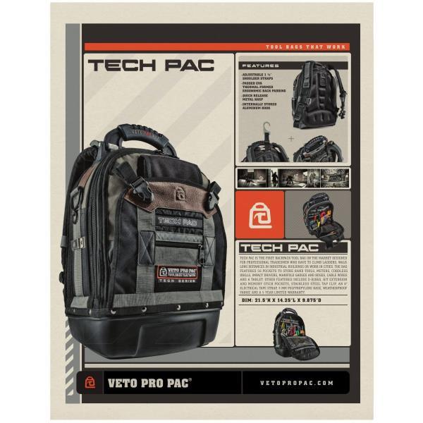 VETO PRO PAC 工具バック Tech Pac メーカー保証5年間 steposwc 10