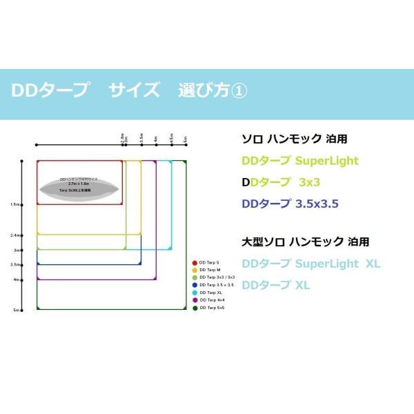 DD タープ 3.5 x 3.5 オリーブグリーン パップテント Tarp DDハンモック 4本のガイライン&ペグ付き 対水圧3000mm|steposwc|14