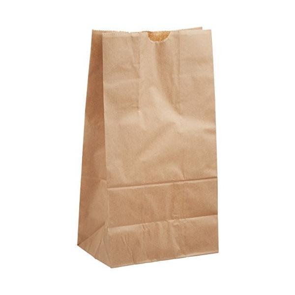 ヘイコー 紙袋 角底袋 No.4 クラフト 13x8x23.5cm 100枚|steppers