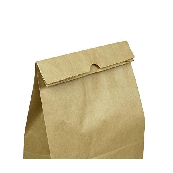 ヘイコー 紙袋 角底袋 No.4 クラフト 13x8x23.5cm 100枚|steppers|02