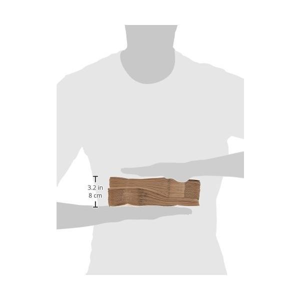 ヘイコー 紙袋 角底袋 No.4 クラフト 13x8x23.5cm 100枚|steppers|06