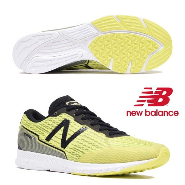 【ニューバランス】new balance NB HANZOT M【NB ハンゾー T M】L2(YELLOW/BLACK)(ワイズ:D) メンズ ランニングシューズ 19FW cat-run