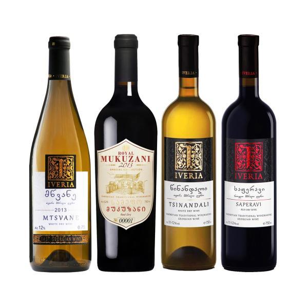ジョージアワインセット 家飲みに最適[4本セット・赤2種白2種・グルジアワイン]