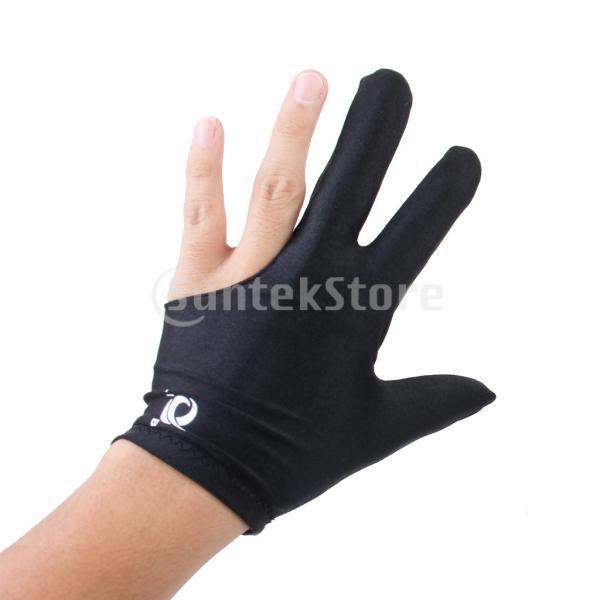 ビリヤードグローブ 3本指 両手兼用 ビリヤード手袋 伸縮 1個 ナイロン製 ブラック ビリヤード用品|stk-shop|05
