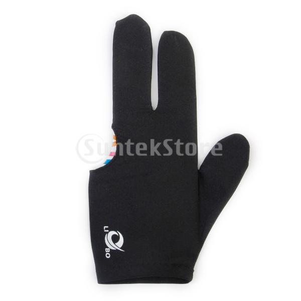ビリヤードグローブ 3本指 両手兼用 ビリヤード手袋 伸縮 1個 ナイロン製 ブラック ビリヤード用品|stk-shop|07