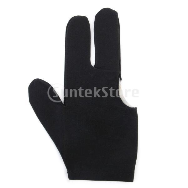 ビリヤードグローブ 3本指 両手兼用 ビリヤード手袋 伸縮 1個 ナイロン製 ブラック ビリヤード用品|stk-shop|08