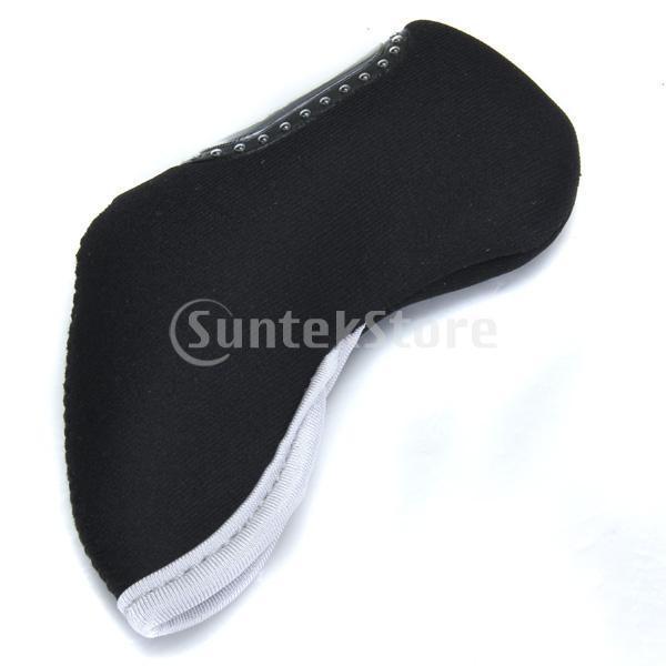 10pcsセット アイアンカバー ファスナー タイプ 保護カバー ブラック|stk-shop|03