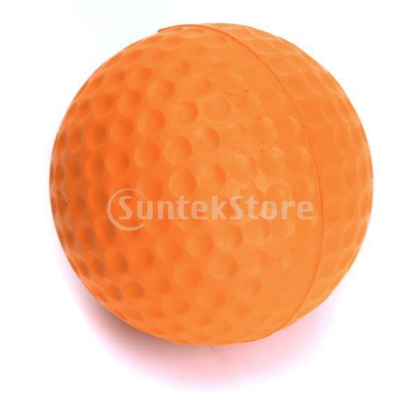 ゴルフボール 練習球  ゴルフトレーニングソフトボール PU製 練習用 (オレンジ)|stk-shop|02