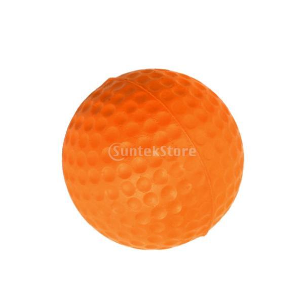 ゴルフボール 練習球  ゴルフトレーニングソフトボール PU製 練習用 (オレンジ)|stk-shop|11