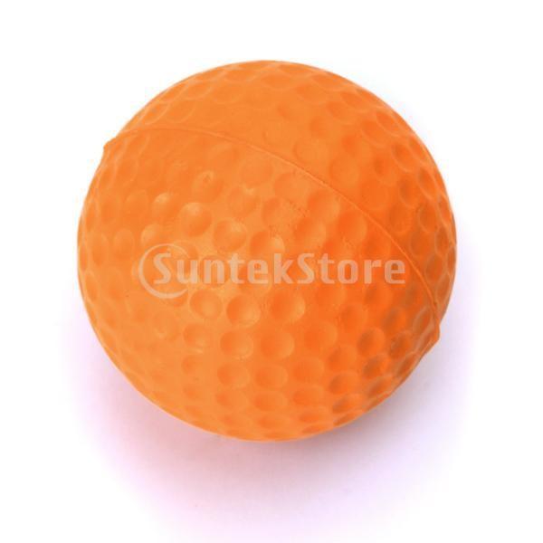 ゴルフボール 練習球  ゴルフトレーニングソフトボール PU製 練習用 (オレンジ)|stk-shop|03