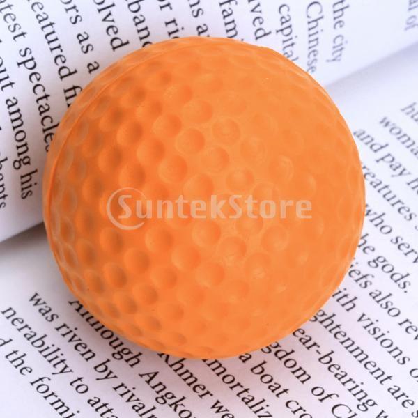 ゴルフボール 練習球  ゴルフトレーニングソフトボール PU製 練習用 (オレンジ)|stk-shop|04