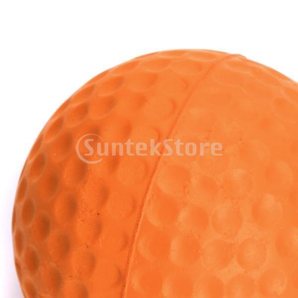 ゴルフボール 練習球  ゴルフトレーニングソフトボール PU製 練習用 (オレンジ)|stk-shop|05