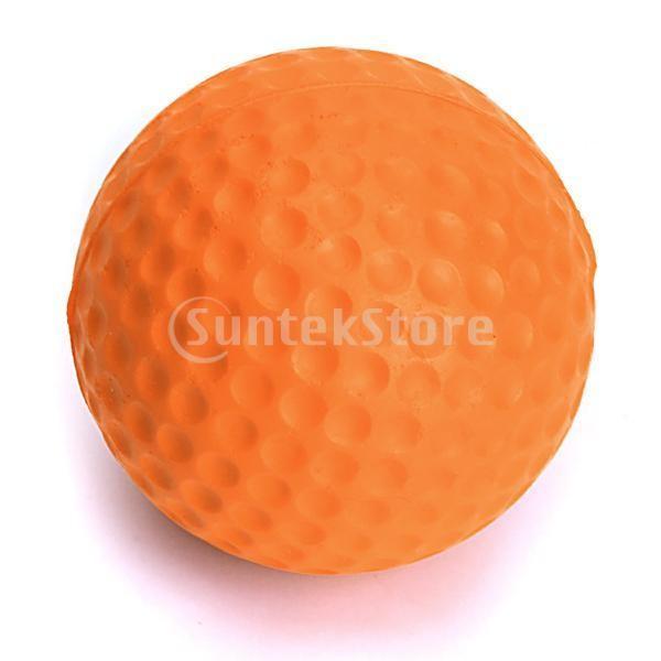 ゴルフボール 練習球  ゴルフトレーニングソフトボール PU製 練習用 (オレンジ)|stk-shop|06