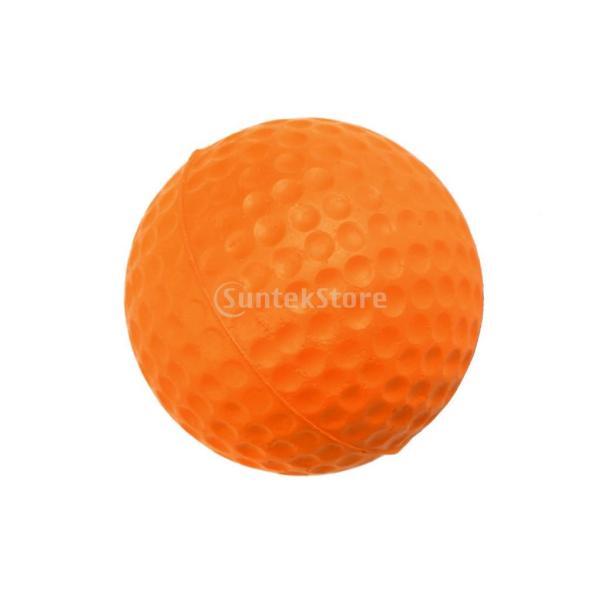 ゴルフボール 練習球  ゴルフトレーニングソフトボール PU製 練習用 (オレンジ)|stk-shop|09