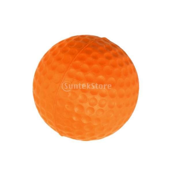 ゴルフボール 練習球  ゴルフトレーニングソフトボール PU製 練習用 (オレンジ)|stk-shop|10