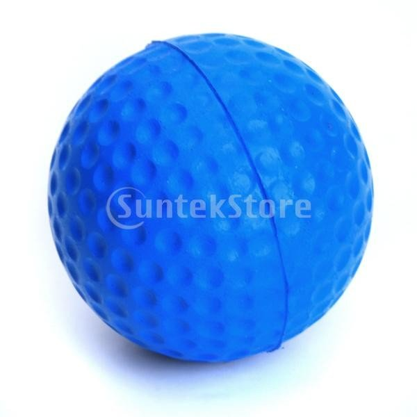 ゴルフボール 練習球  ゴルフトレーニングソフトボール PU製 練習用 (ブルー)|stk-shop