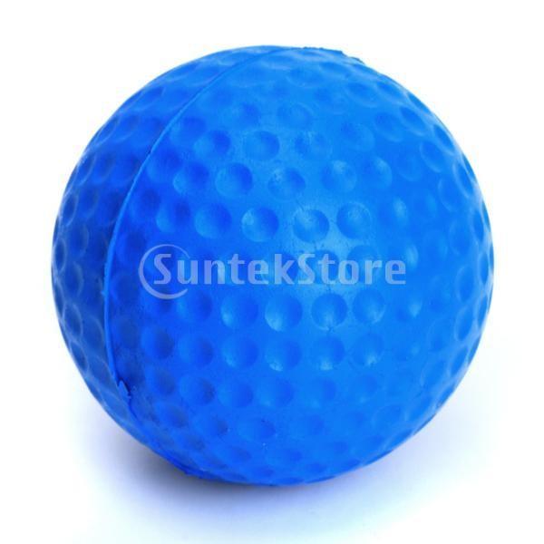 ゴルフボール 練習球  ゴルフトレーニングソフトボール PU製 練習用 (ブルー)|stk-shop|02