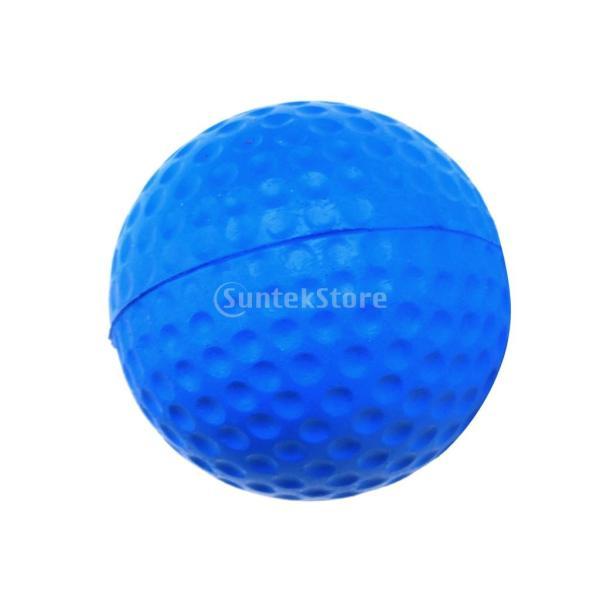 ゴルフボール 練習球  ゴルフトレーニングソフトボール PU製 練習用 (ブルー)|stk-shop|11