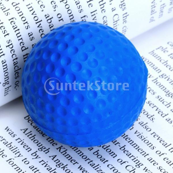 ゴルフボール 練習球  ゴルフトレーニングソフトボール PU製 練習用 (ブルー)|stk-shop|03