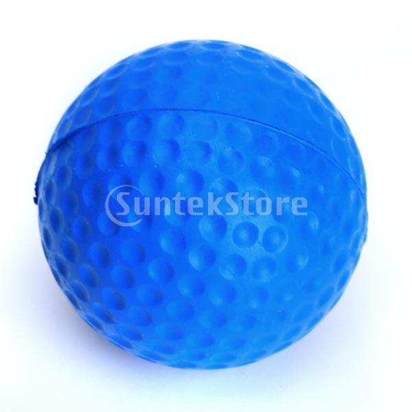 ゴルフボール 練習球  ゴルフトレーニングソフトボール PU製 練習用 (ブルー)|stk-shop|04