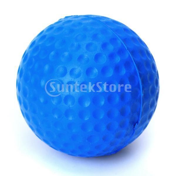 ゴルフボール 練習球  ゴルフトレーニングソフトボール PU製 練習用 (ブルー)|stk-shop|06