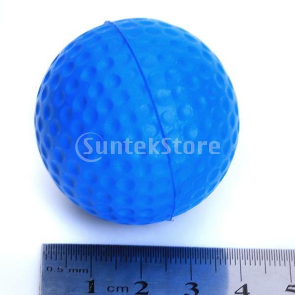 ゴルフボール 練習球  ゴルフトレーニングソフトボール PU製 練習用 (ブルー)|stk-shop|07