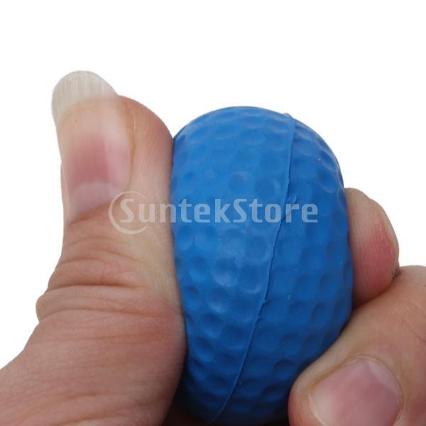 ゴルフボール 練習球  ゴルフトレーニングソフトボール PU製 練習用 (ブルー)|stk-shop|08