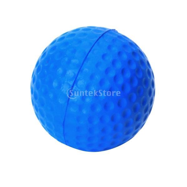 ゴルフボール 練習球  ゴルフトレーニングソフトボール PU製 練習用 (ブルー)|stk-shop|09