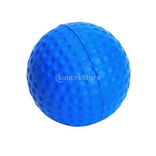 ゴルフボール 練習球  ゴルフトレーニングソフトボール PU製 練習用 (ブルー)|stk-shop|10