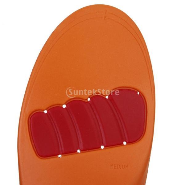 【Footful】インソール 中敷き 男性用 疲れ和らげ 衝撃吸収 カット可能 (US 5-7.5)