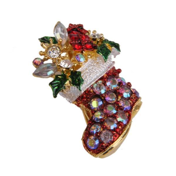 KOZEEYブローチ ピン デコレーション ギフト クリスマス用 贈り物 装飾 クリスマスパーティー 靴の形