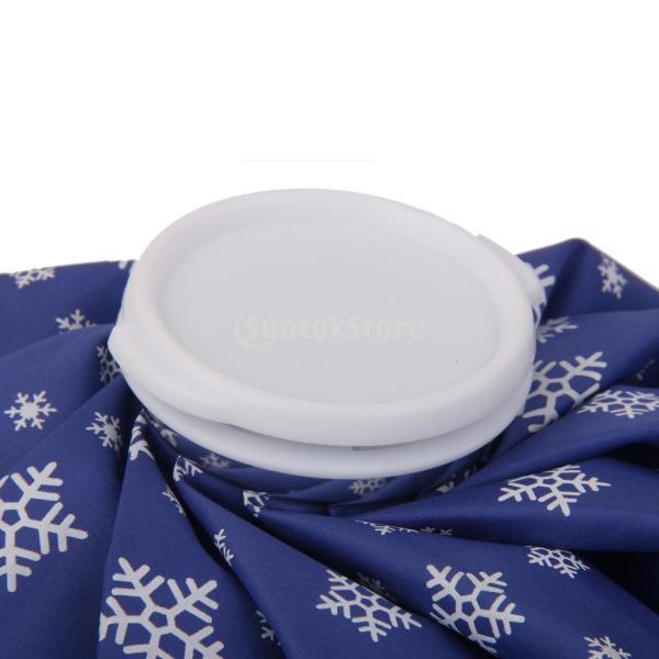 ノーブランド品 スポーツ 怪我 アイシング用 氷嚢 アイスバッグ コールドパック 9インチ 雪の結晶柄 (ロイヤルブルー)|stk-shop|05