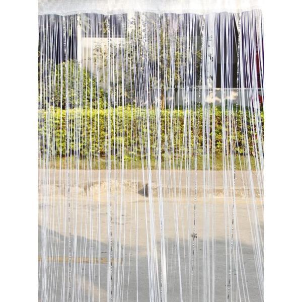 ドアカーテン ビーズ 窓 装飾 (ホワイト)|stk-shop|02