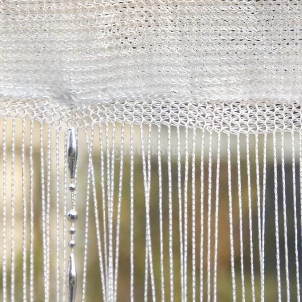 ドアカーテン ビーズ 窓 装飾 (ホワイト)|stk-shop|03