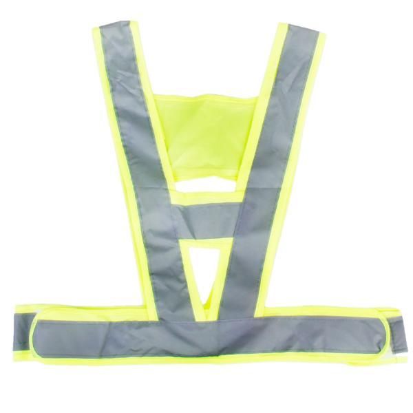 安全ベスト 反射ストリップフルオレセイン 化学繊維 高視認性