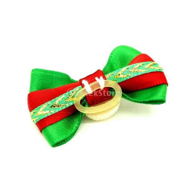 ノーブランド品ペット 犬用 クリスマス ヘアリボン ヘアアクセサリー 犬 猫 雪だるま stk-shop 03