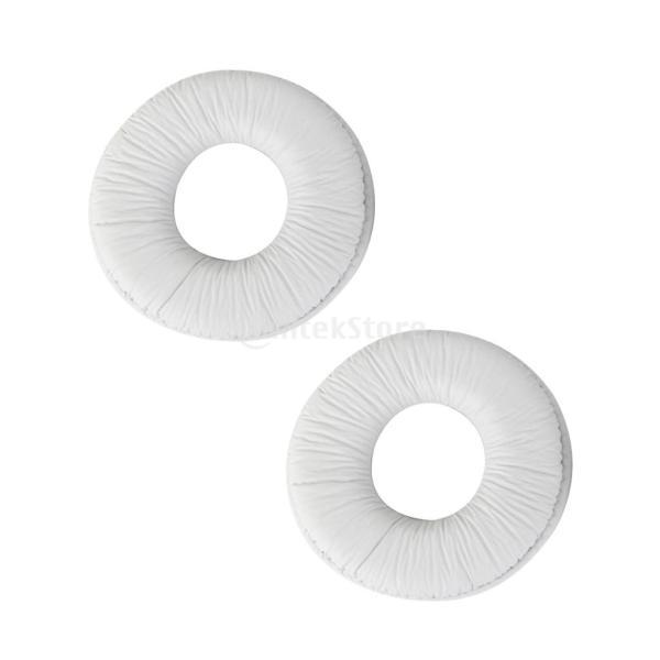 ノーブランド品 ホワイト SONY MDR zx100 zx300 ヘッドセット ヘッドフォン用 イヤーパッド クッション