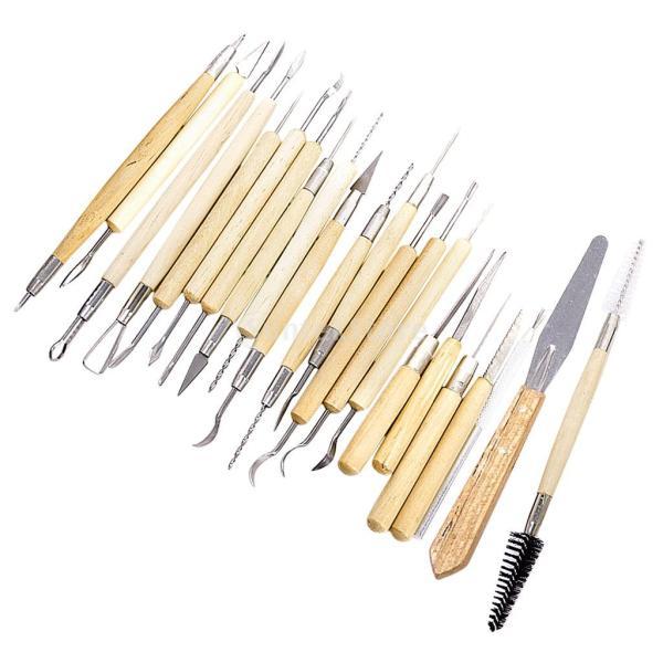 ノーブランド品 彫刻ツール 彫刻刀 ヘラ 彫塑へら かきベラ 22本セット|stk-shop|13