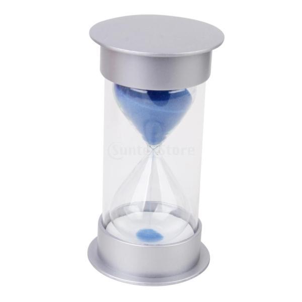 砂時計 タイマー サンドタイマー 透明感 5/10/15/30分計 選べる 贈り物  - 5分計, 青